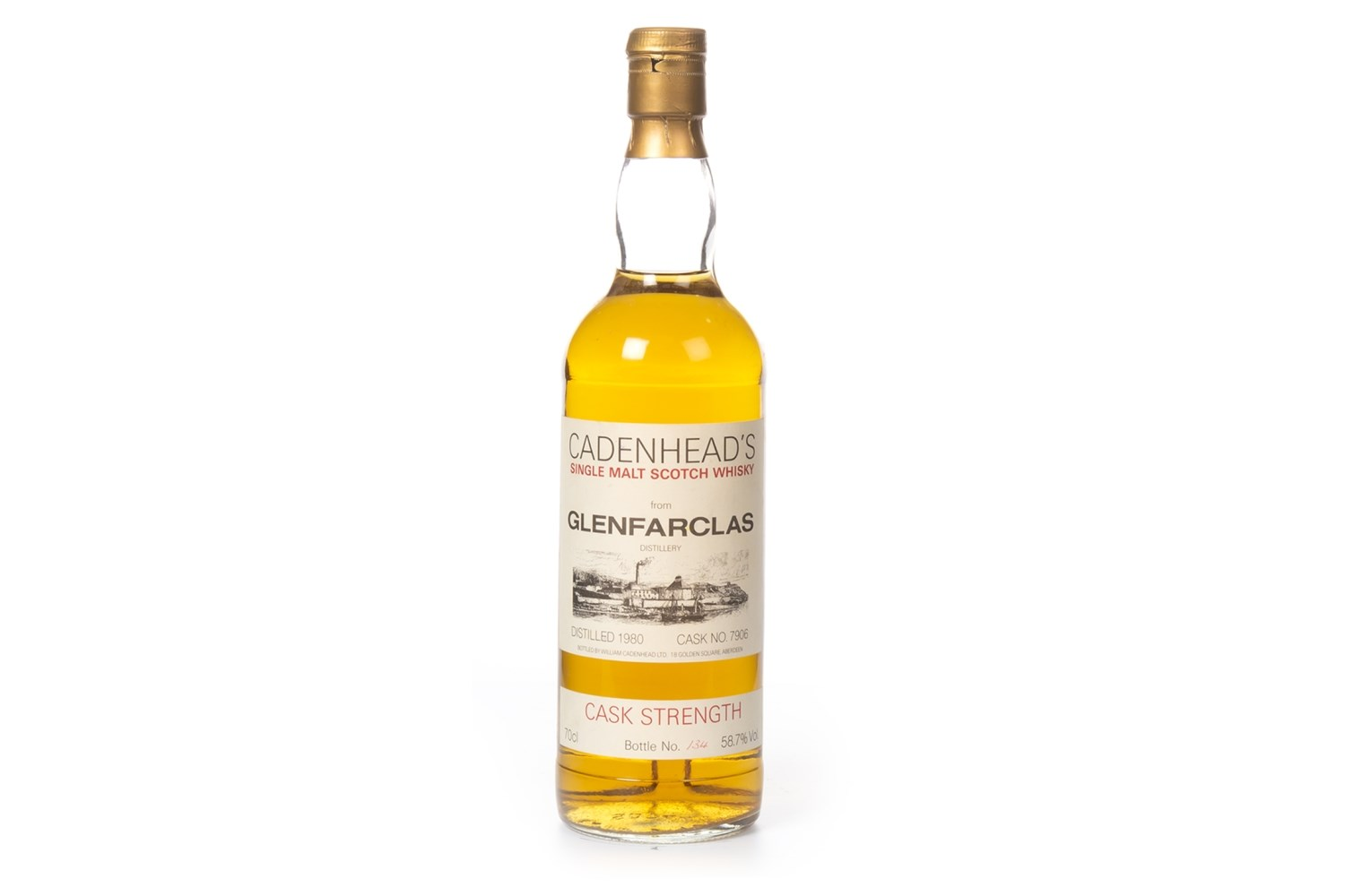 Lot 1019 - GLENFARCLAS 1980 CADENHEAD'S CASK STRENGTH