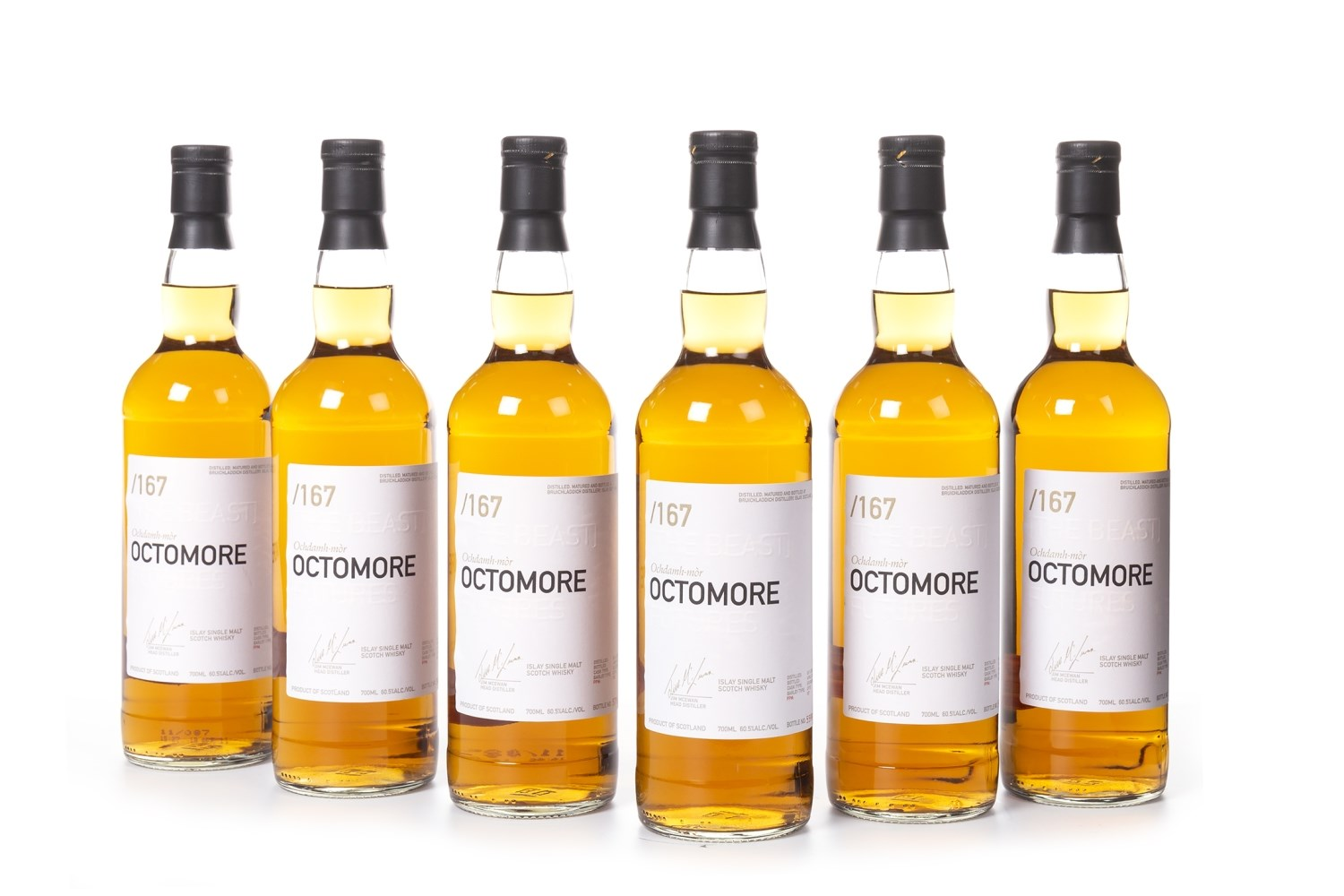 Lot 1005 - SIX BOTTLES OF OCTOMORE 2004 FUTURES 'THE BEAST'