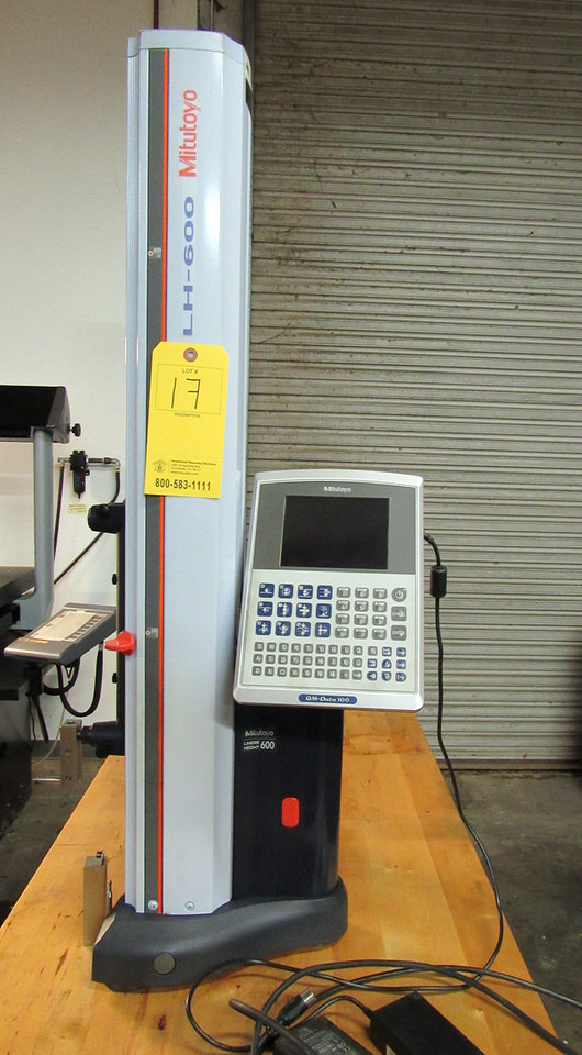 "Lot 17 - Mitutoyo LH-600 Linear Height Coordinate Measuring Machine (CMM), 0"" - 24"" measuring range stroke,"