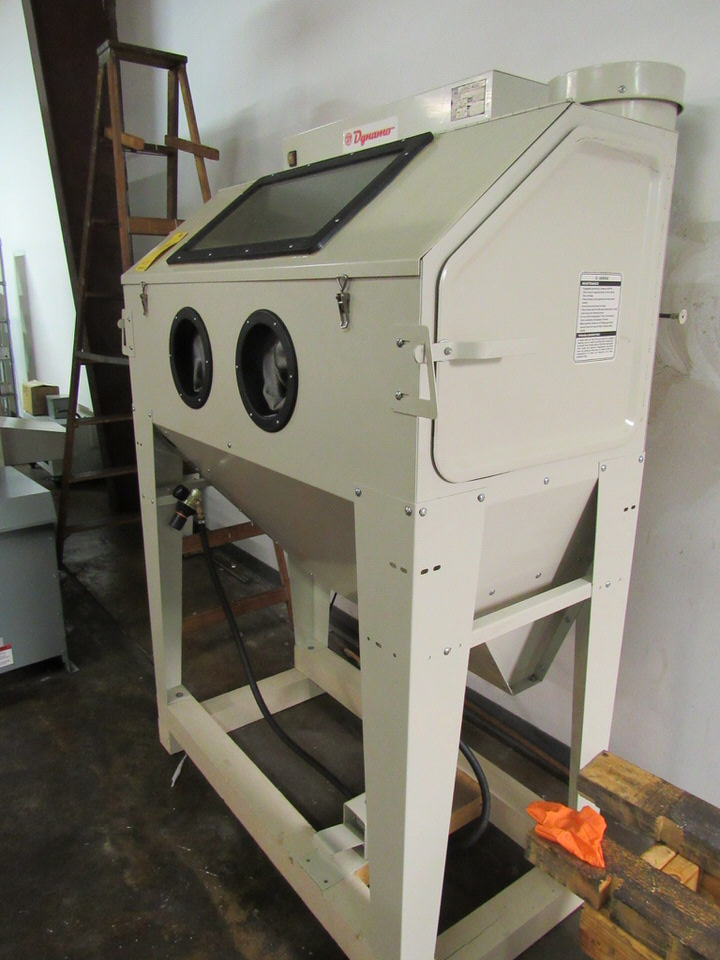 "Lot 46 - Dynamo Model SBC 420 Sand Blast Cabinet, new 2012, 47.5"" x 24"" x 22.5"" high work area, 10.5"" x 22.5"""