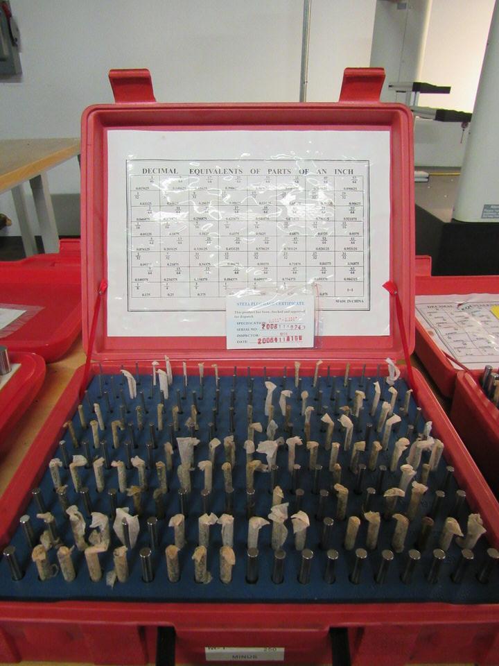"""Lot 23 - Pin Gage Set, 0.061"""" - 0.250"""", Model M1, Minus"""