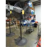 ETL Oscillating Pedestal Fan, Type 30P-TP120, 2.3 amps, 60 Hz, (2) pieces, S/N NA