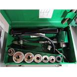 """Greenlee Model 7506 1/2""""-2"""" Hydraulic Knockout Punch Set"""