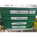 Greenlee Model 7361SB Knockout Punch Parts Cabinet