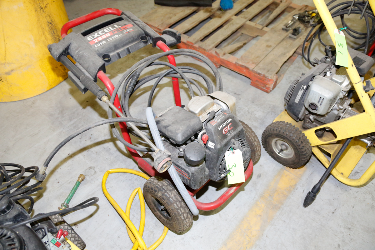 Excell 2800 Psi Gas Pressure Washer W Honda 190 Engine