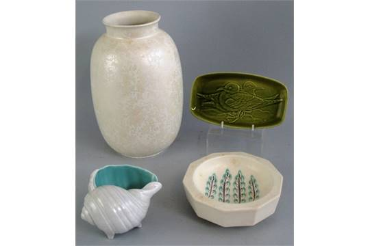 Four Pieces Of Poole Pottery Comprising Large Ovoid Vase With