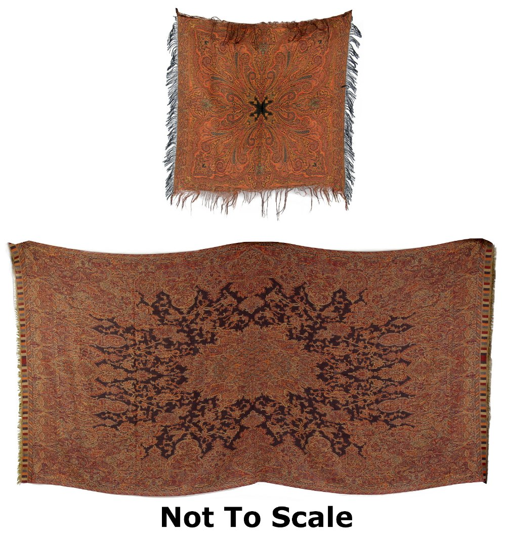 Lot 7 - An Indian Paisley type shawl, approximately 110 by 55ins. (280 by 140cms.); together with a
