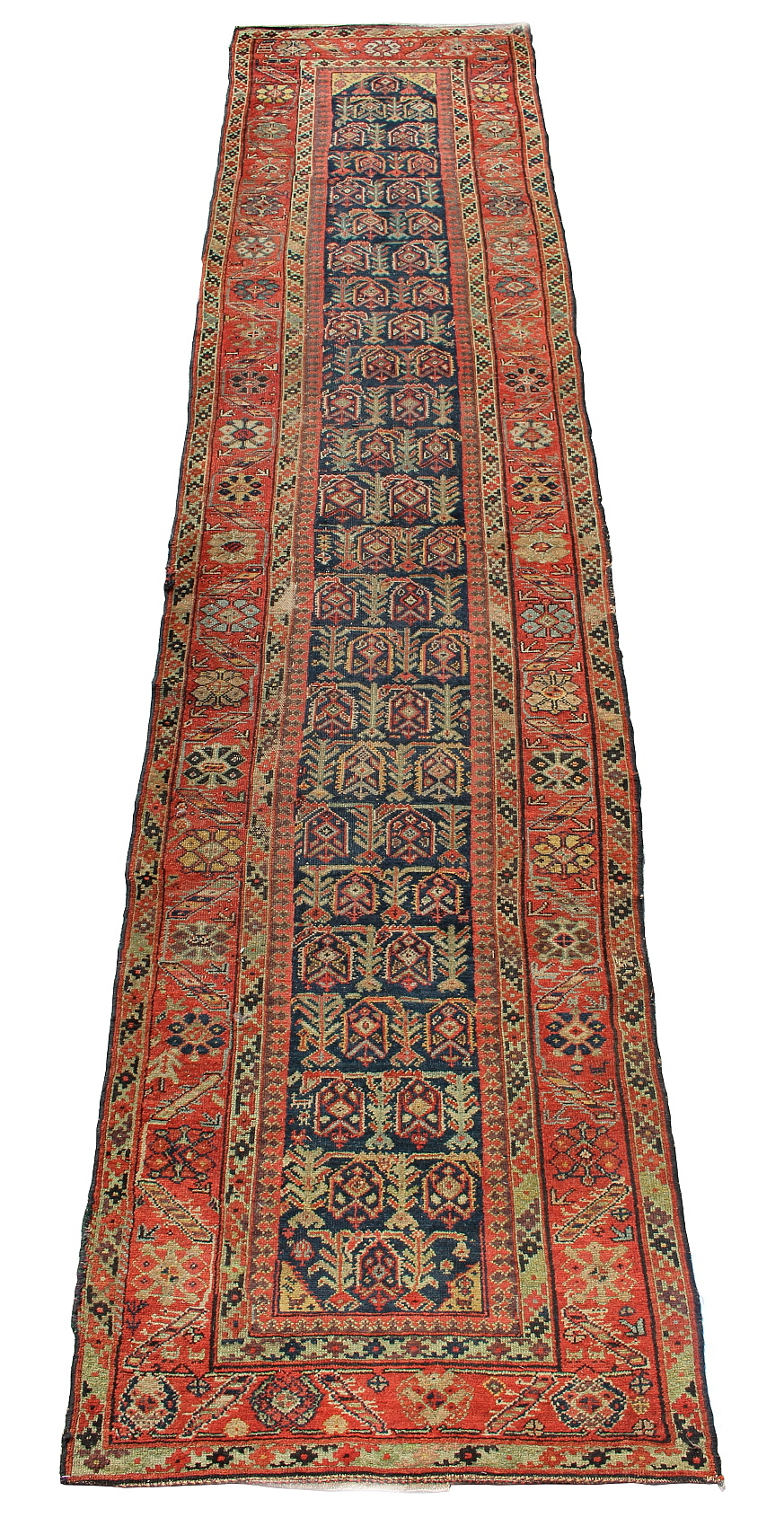 Lot 19 - Property of a lady - an antique Sarab runner, 176 by 39ins. (437 by 100cms.) (see illustration).