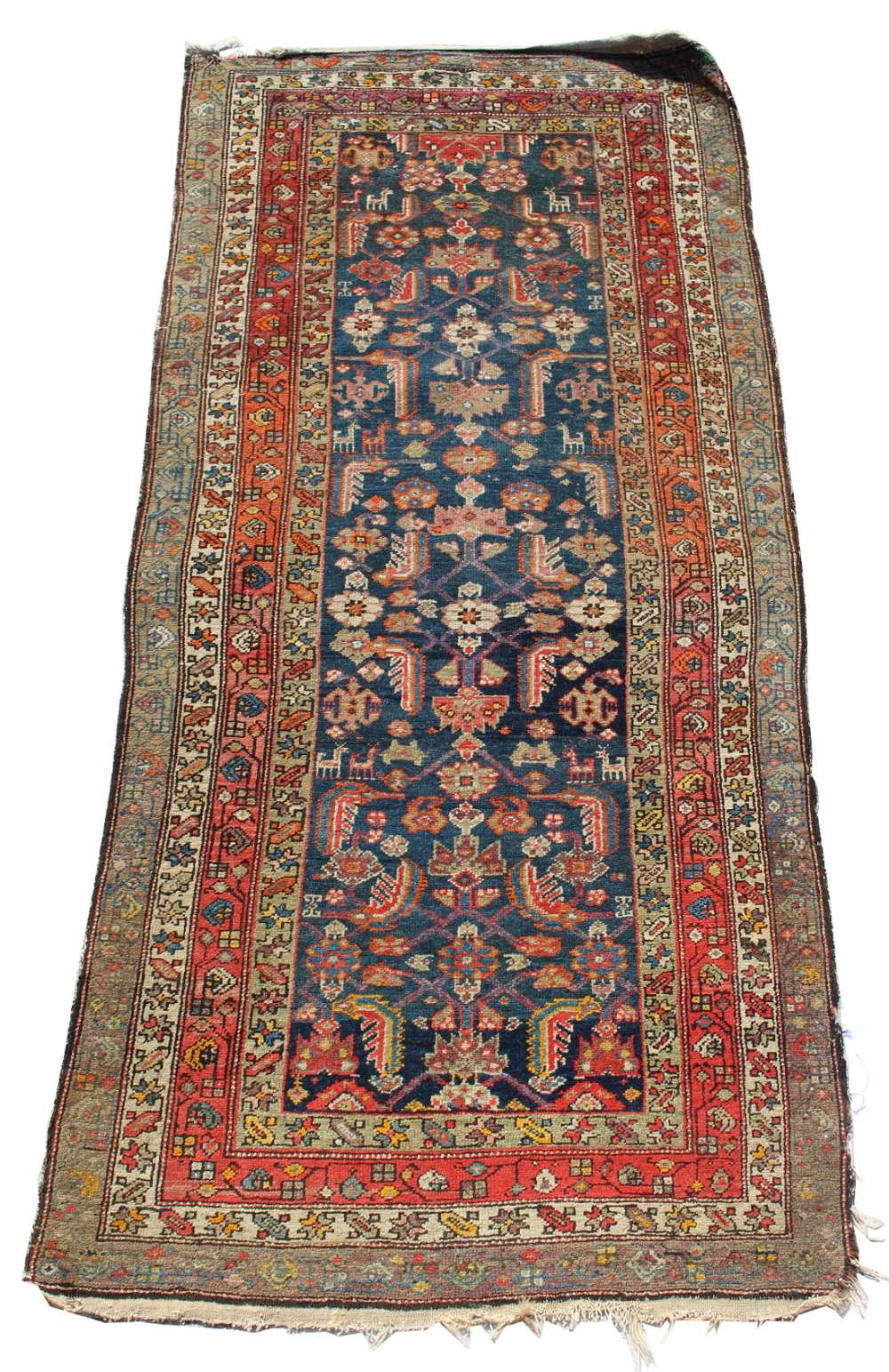 Lot 18 - Property of a lady - an early 20th century Hamadan long rug, 94 by 45ins. (239 by 115cms.) (see
