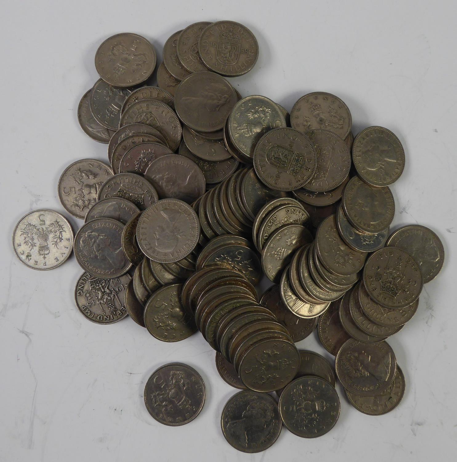 Lot 60 - TWENTY FOUR PRE DECIMAL COPPER FARTHINGS AND 16 PRE DECIMAL THREE PENNY BITS (40) and 100