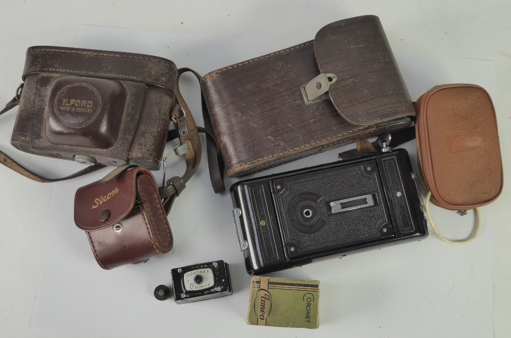 Lot 216 - BOXED CORONET 'CAMEO' MINIATURE/SPY CAMERA to take 13 x 18mm images on roll film and with original