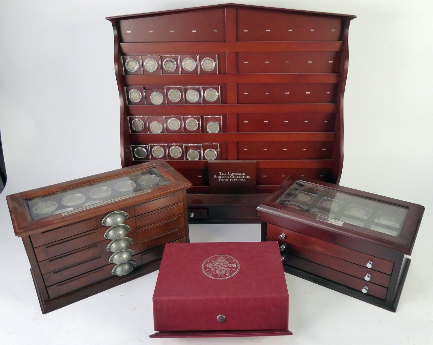 Lot 48 - FOUR DANBURY MINT PART COLLECTIONS OF 20TH CENTURY PRE-DECIMAL SILVER COINAGE to include twenty