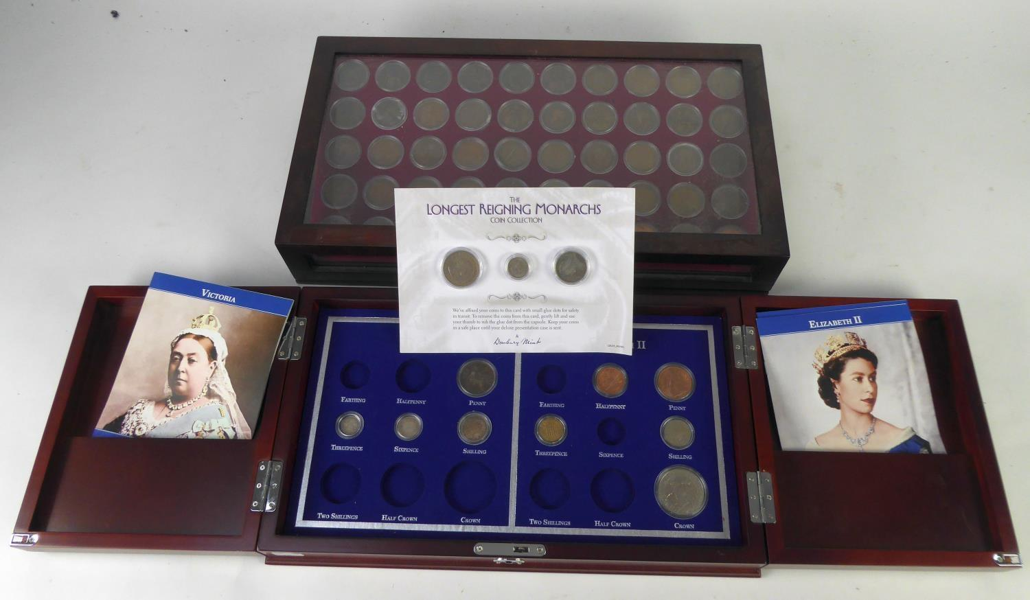 Lot 52 - DANBURY MINT COLLECTION OF FIFTY PENNY COPPER COINS from the period 1901 – 1967 each year with