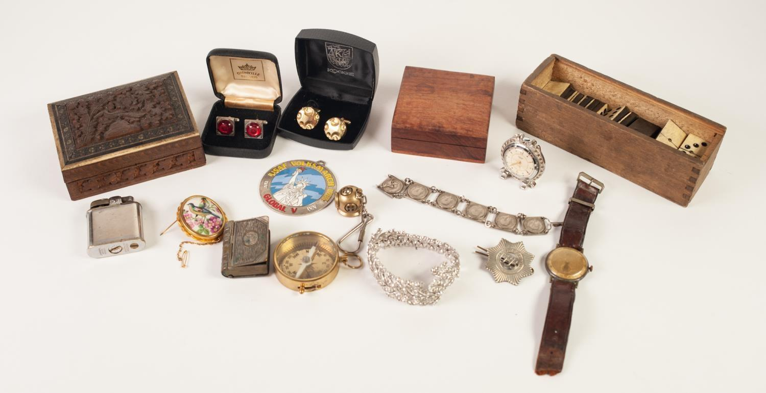 Lot 419 - SUNDRY COLLECTORY ITEMS AND MISCELLANEA, including Ronson 'Whirlwind' plated CIGARETTE LIGHTER,