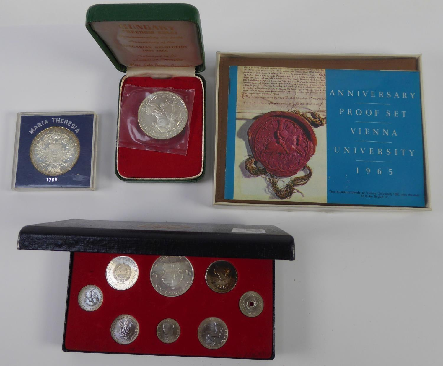 Lot 30 - ANNIVERSARY PROOF SETS OF AUSTRIAN SILVER COINS, 1965, FOR VIENNA UNIVERSITY, limited edition in