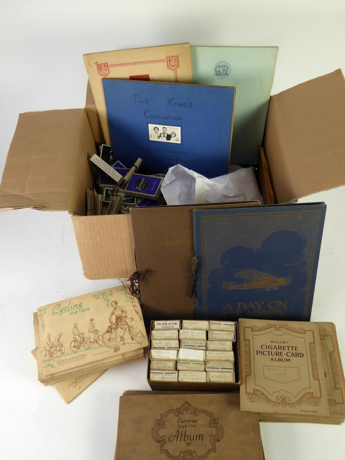 Lot 178 - QUANTITY OF CIGARETTE CARDS, including THIRTY THREE ALBUMS, including, FIVE CARRERAS 'SLIP IN', '