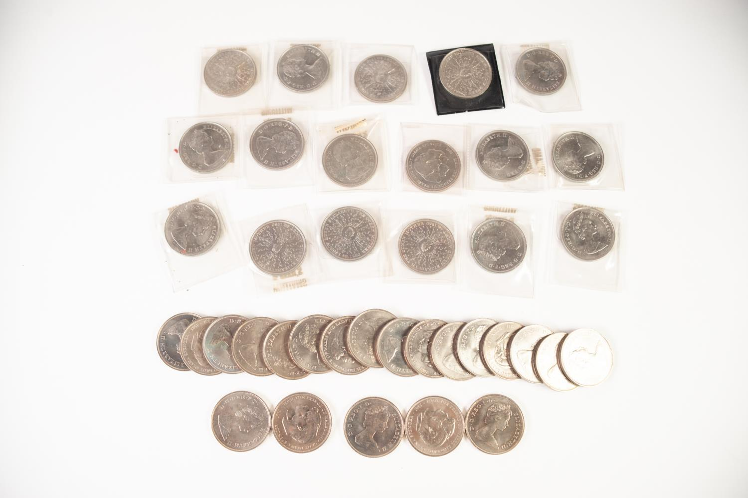 Lot 5 - THIRTY EIGHT QUEEN ELIZABETH II MAINLY COMMEMORATIVE CROWN COINS VARIOUS (28)