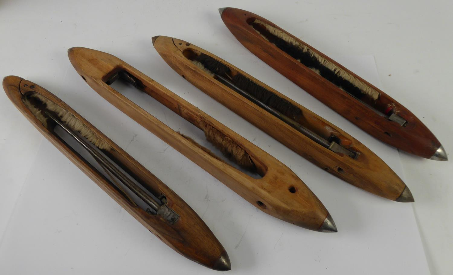 "Lot 448 - THREE ANTIQUE SOFT WOOD SLIDE WHISTLES, 25"", 16 1/2"" AND 14 1/2"" (63.5 x 41.9 x 36.8cm)"