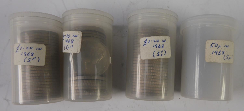 Lot 58 - 82 ELIZABETH II FIVE NEW PENCE COINS 1967 (uncirculated)