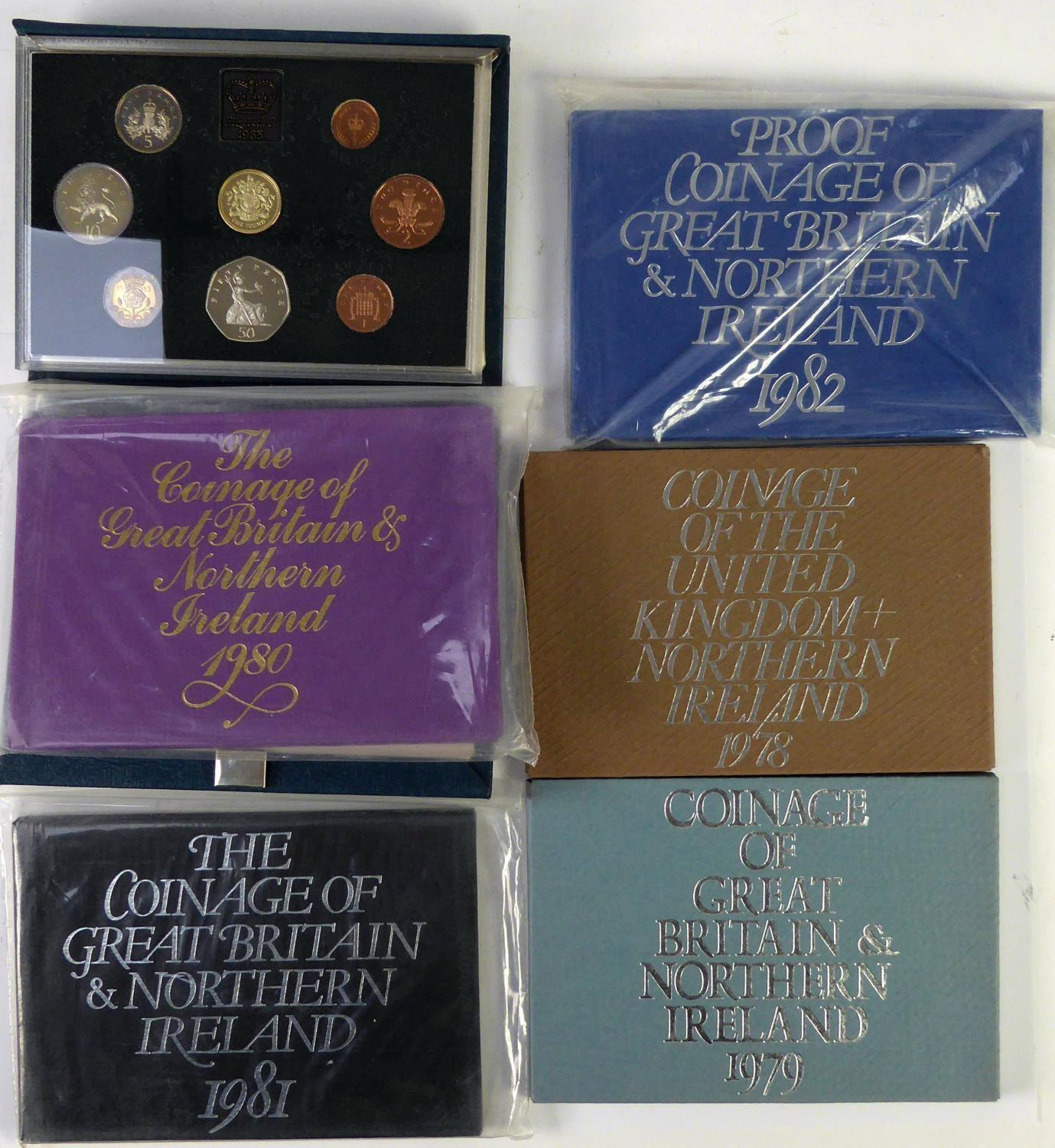 Lot 64 - ROYAL MINT ISSUED COMMEMORATIVE COIN SETS 1978-1983, in original boxes unused (6)