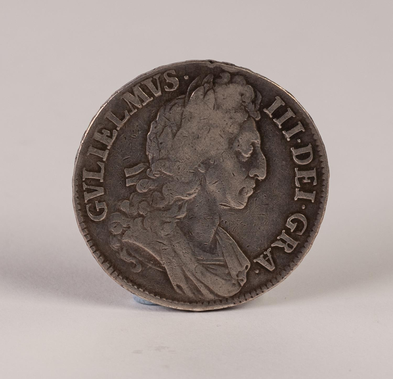 Lot 8 - WILLIAM III SILVER CROWN COIN 1696, 3rd bust, showing wear