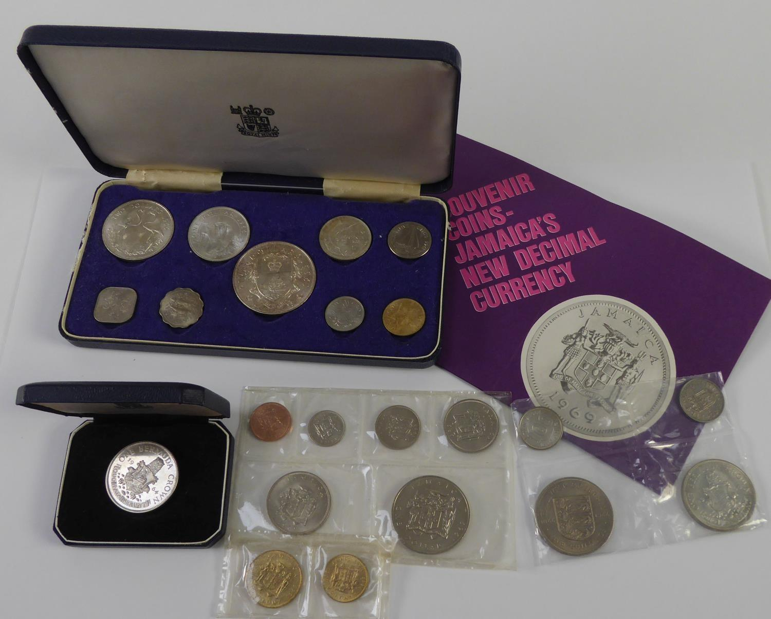 Lot 34 - UNCIRCULATED SET OF BAHAMAS PROOF FIRST DECIMAL COINS, 1966, includes five dollars to one cent,