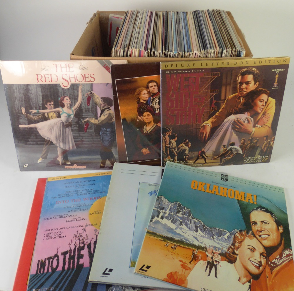 Lot 326 - VARIOUS LASER DISCS FILMS, mainly Showtunes and musical theatre, to include; Oklahoma, 1776,