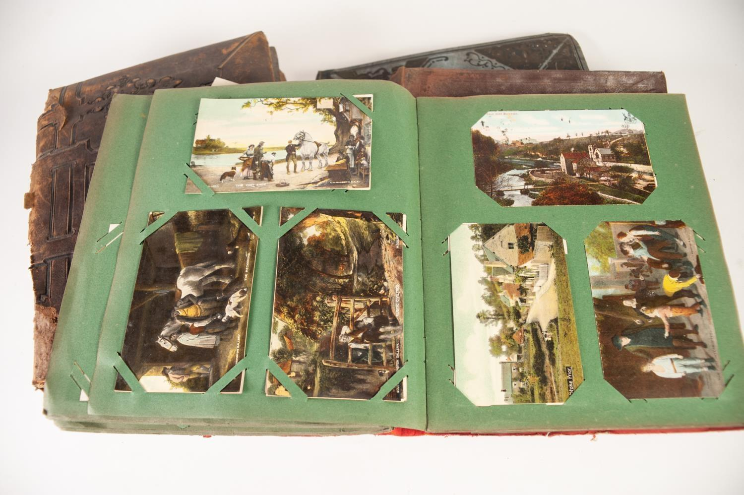 Lot 174 - LATE VICTORIAN ALBUM OF SCRAPS, together with an ALBUM OF EARLY TWENTIETH CENTURY POSTCARDS mainly