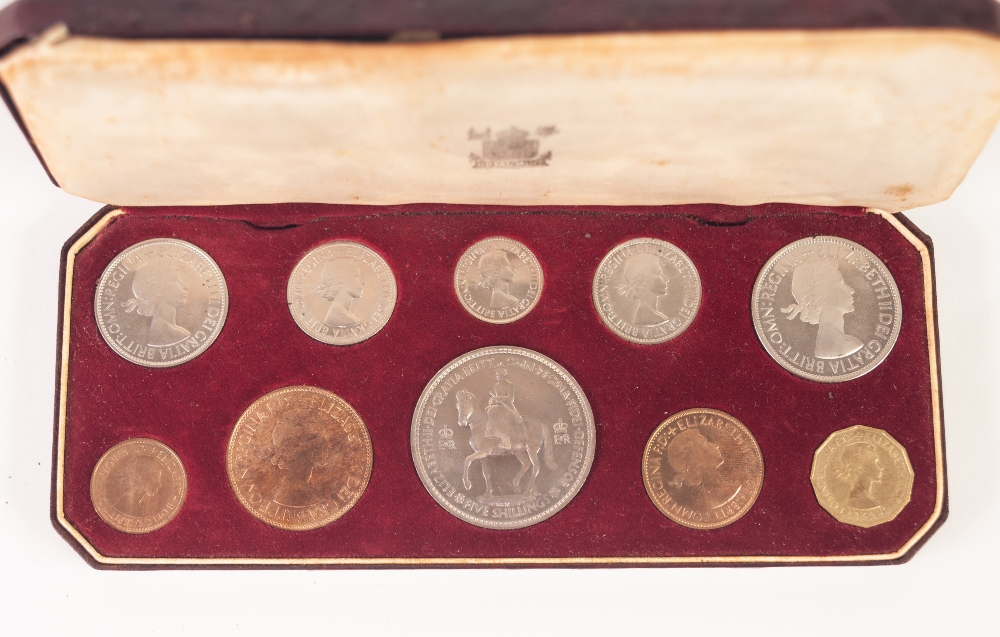 Lot 403 - A CASED ROYAL MINT QUEEN ELIZABETH II CORONATION COMMEMORATIVE SPECIMEN TEN COIN SET from Crown to