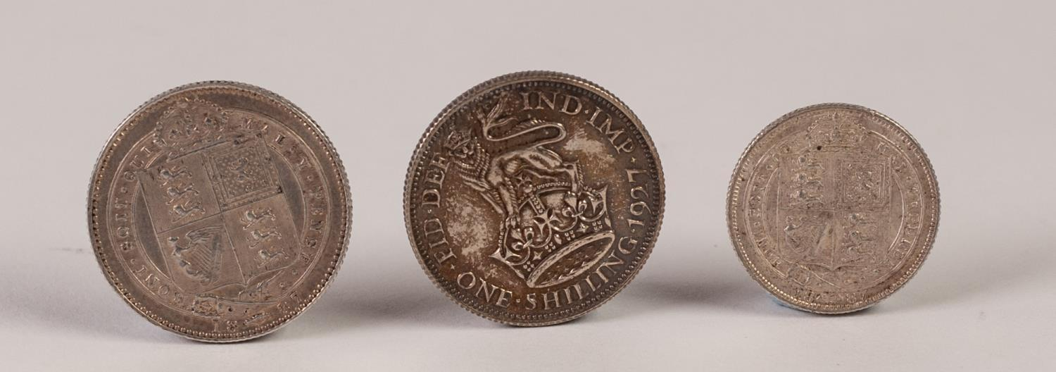 Lot 10 - VICTORIA SILVER SHILLING 1887 AND SIXPENCE 1887, JUBILEE HEAD, both in uncirculated condition,
