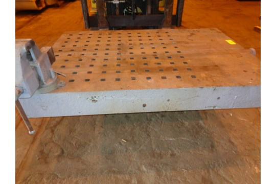 """72"""" x 49"""" Acorn Table with Vice (#60) - Image 7 of 13"""