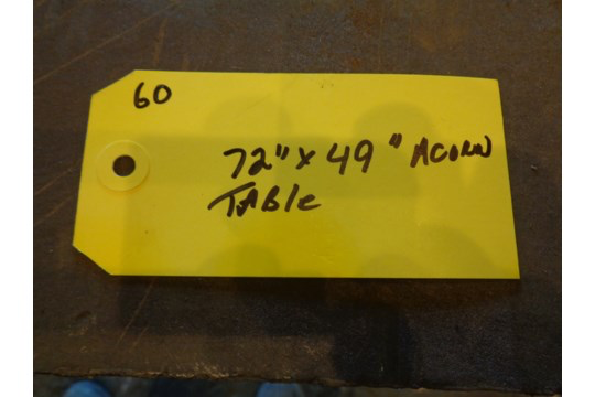 """72"""" x 49"""" Acorn Table with Vice (#60) - Image 13 of 13"""