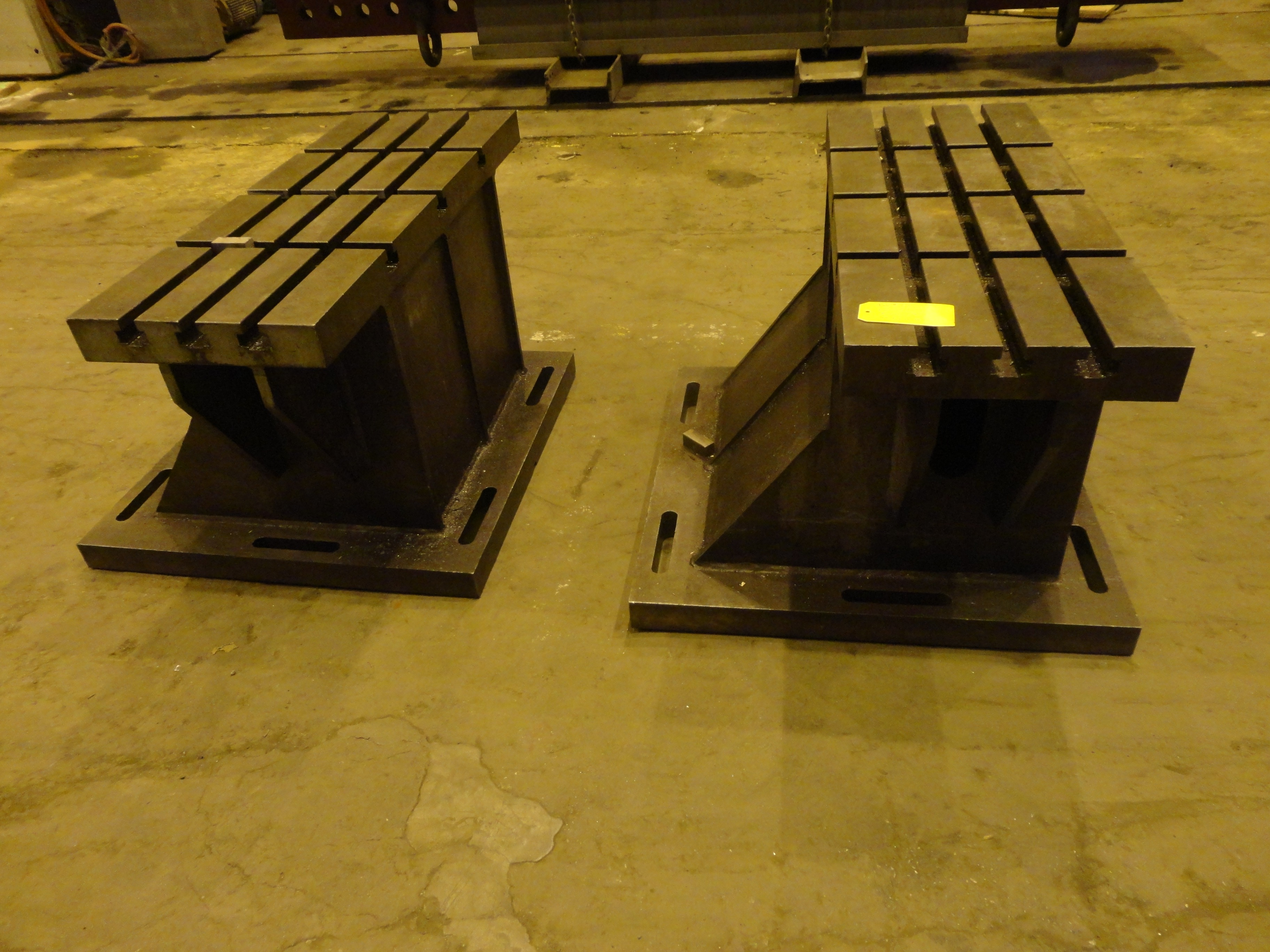 """Set of 2 T-Slotted Riser Blocks Knee Hold Down Plates 42""""L x 16"""" W x 25""""H - Image 4 of 13"""