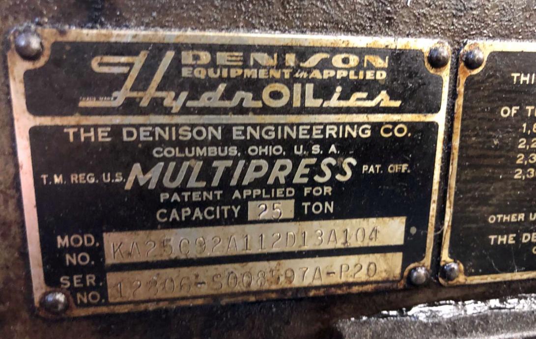 Dension KA2519 25 Ton Press - Image 5 of 5