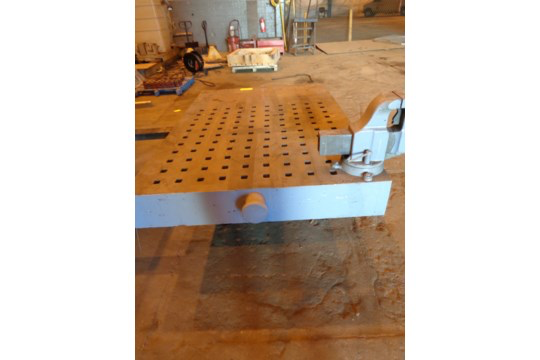 """72"""" x 49"""" Acorn Table with Vice (#60) - Image 10 of 13"""