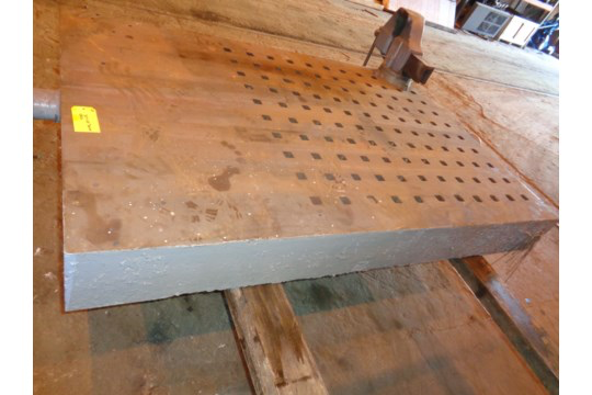"""72"""" x 49"""" Acorn Table with Vice (#60) - Image 4 of 13"""
