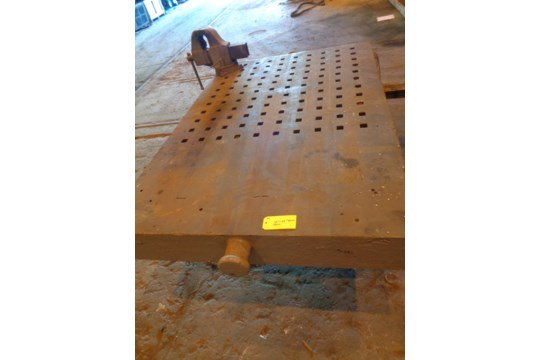 """72"""" x 49"""" Acorn Table with Vice (#60) - Image 12 of 13"""