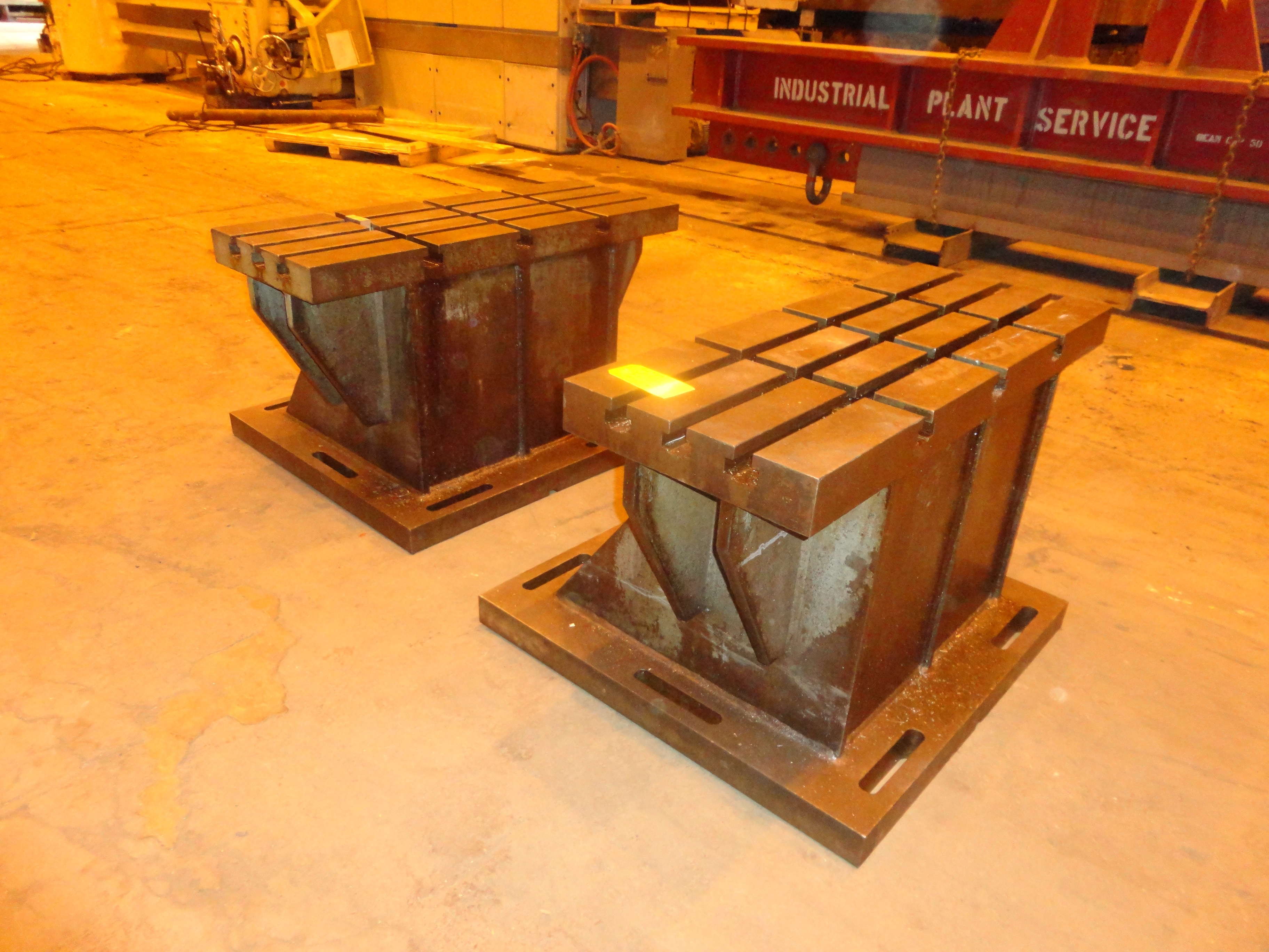 """Set of 2 T-Slotted Riser Blocks Knee Hold Down Plates 42""""L x 16"""" W x 25""""H - Image 12 of 13"""