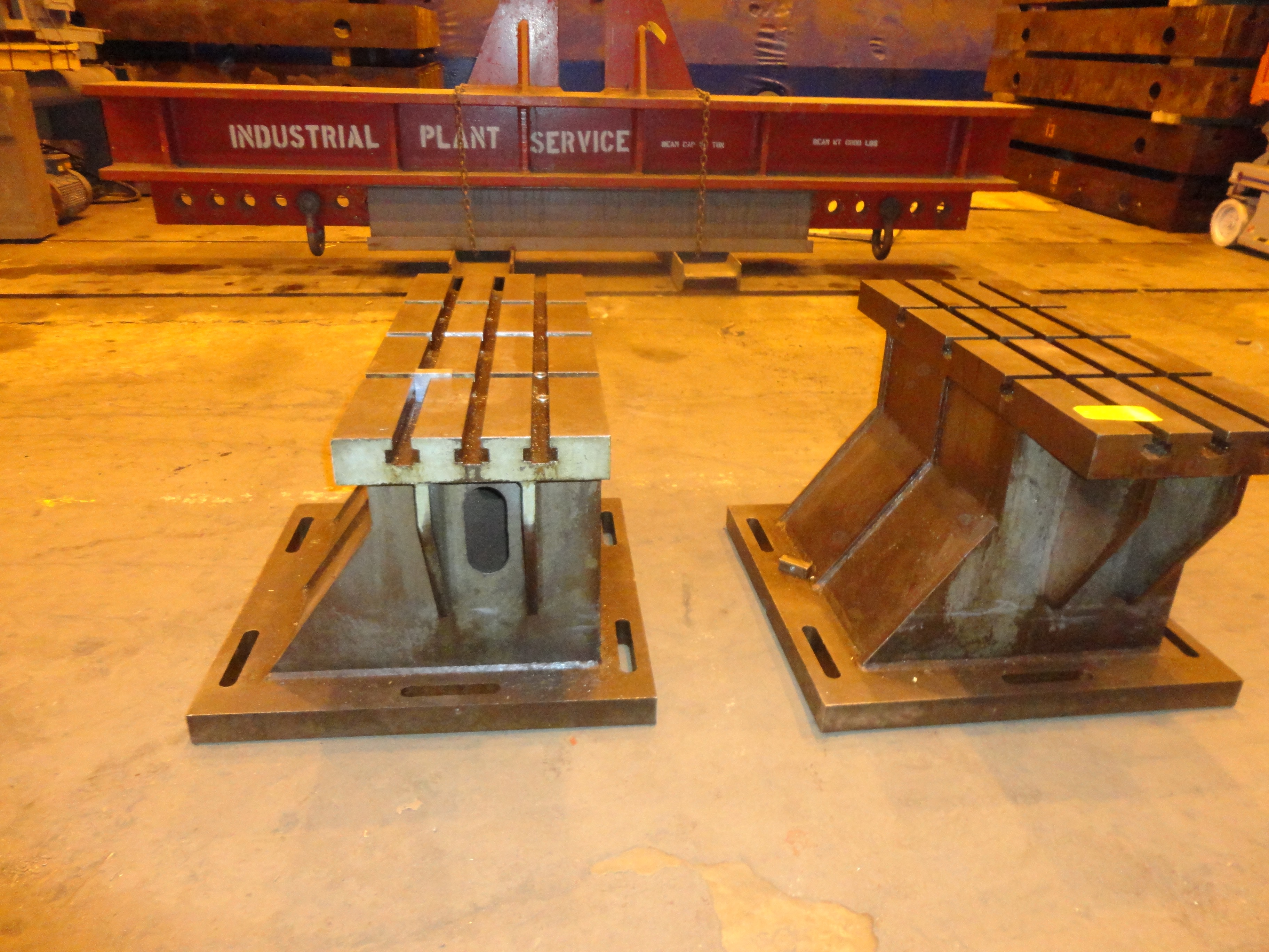 """Set of 2 T-Slotted Riser Blocks Knee Hold Down Plates 42""""L x 16"""" W x 25""""H - Image 11 of 13"""