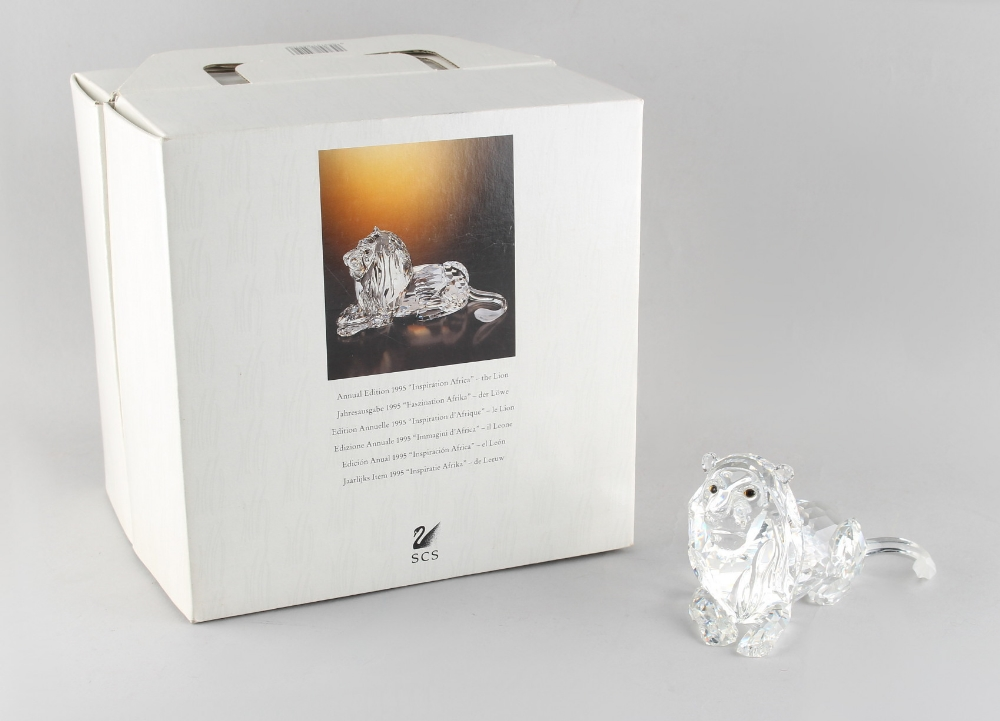 A private collection of Swarovski crystal glass - Lion, the 1995 Annual Edition 'Inspiration