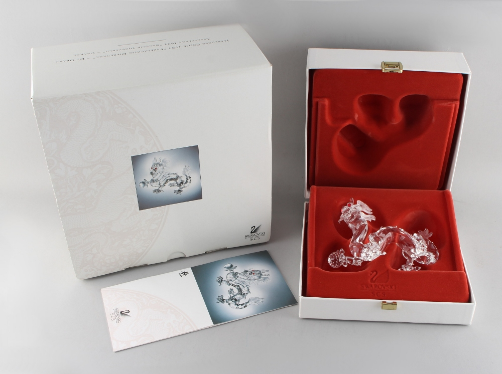 A private collection of Swarovski crystal glass - Dragon, the 1998 Annual Edition 'Fabulous