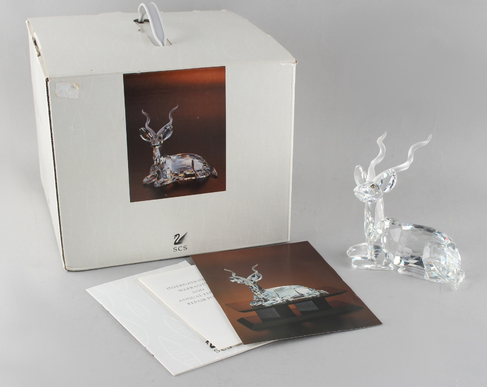 A private collection of Swarovski crystal glass - Kudu, the 1994 Annual Edition 'Inspiration