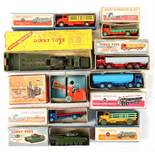 Property of a deceased estate - nine assorted boxed Dinky Toys including Coventry Climax Fork Lift