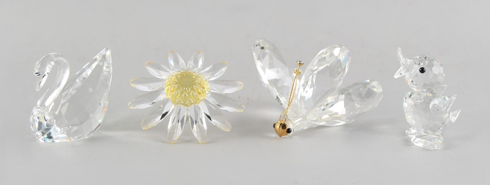 A private collection of Swarovski crystal glass - a Butterfly, 1.25ins. (3.2cms.) high; together - Image 2 of 2