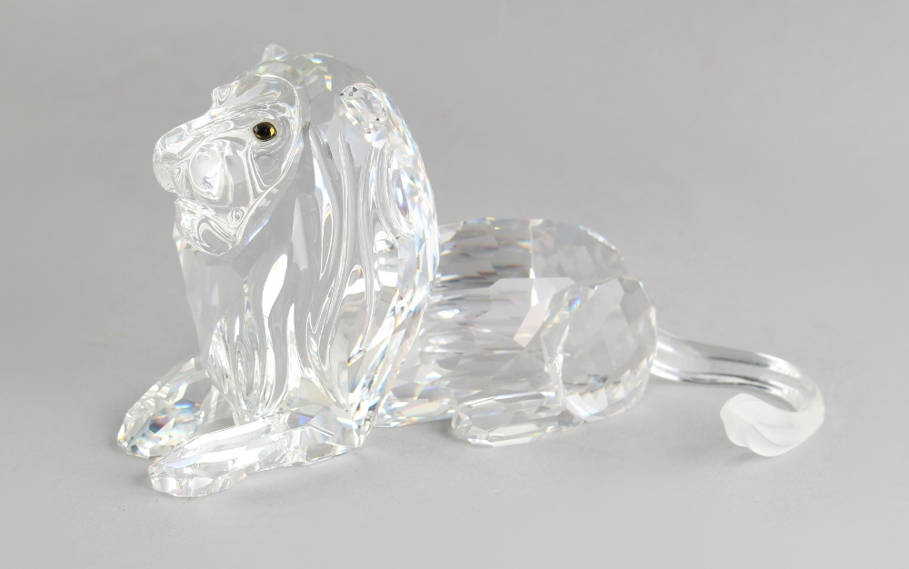 A private collection of Swarovski crystal glass - Lion, the 1995 Annual Edition 'Inspiration - Image 2 of 2