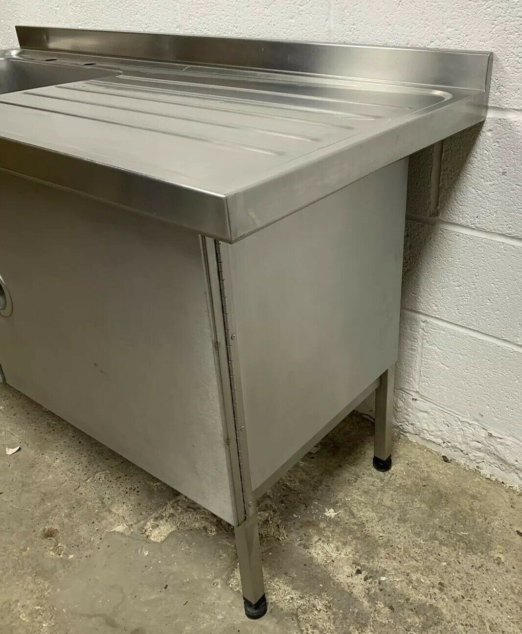 Lot 55 - Sissons Stainless Steel Single Bowl Sink with Righthand Drainer and Cupboard Unit