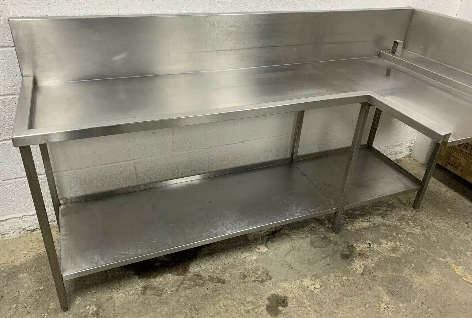 Stainless Steel Dishwasher Outlet / Exit Table - Image 4 of 4