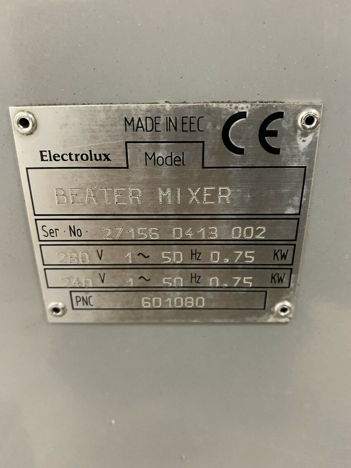 Lot 36 - Electrolux Beater Mixer 20 Quart
