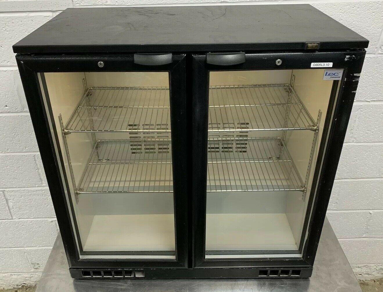 LEC BC9004K Double Door Drinks Display Fridge
