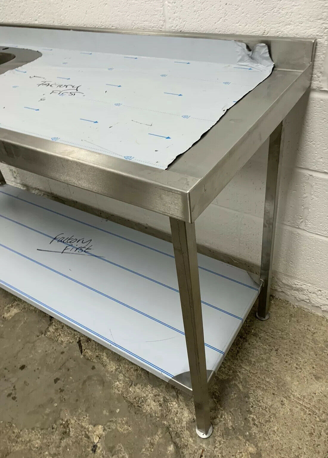 Lot 24 - Stainless Steel Single Bowl Sink With Righthand Drainer And Upstand